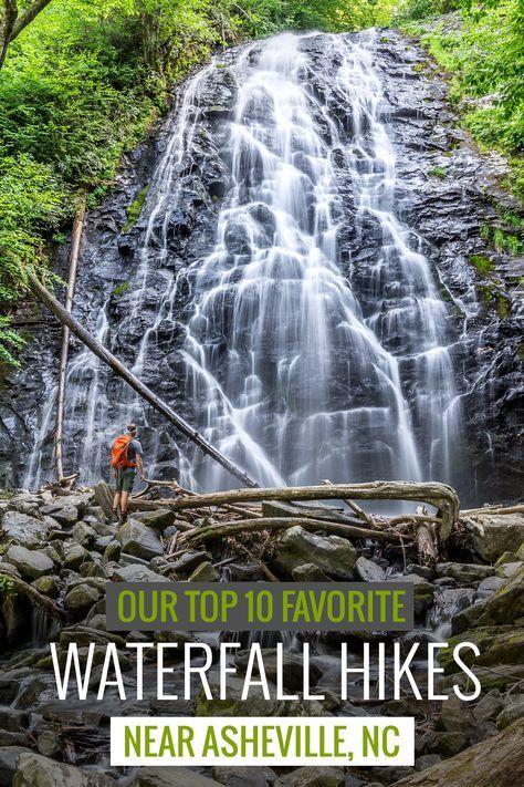 Waterfalls near Asheville: our top 10 favorite western North Carolina waterfall…