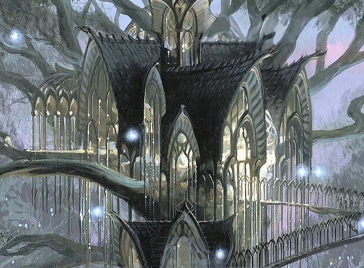 The ultimate tree house.  Lothlorien~Lord of the Rings