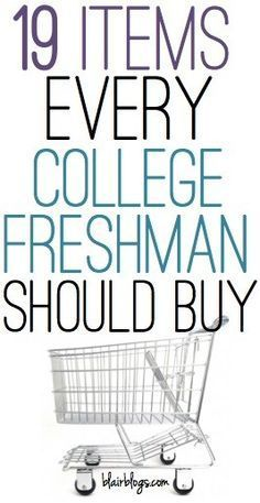 19 Items Every College Freshman Should Buy | Blair Blogs