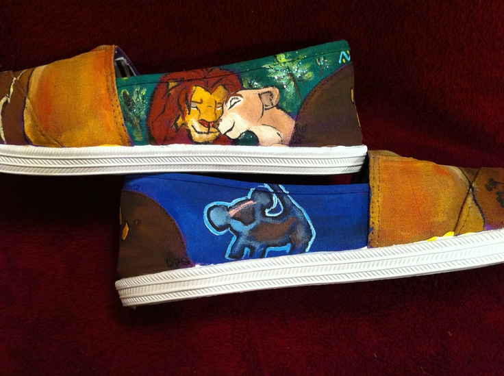 Personalized/Custom Lion king toms. $125.00, via Etsy.