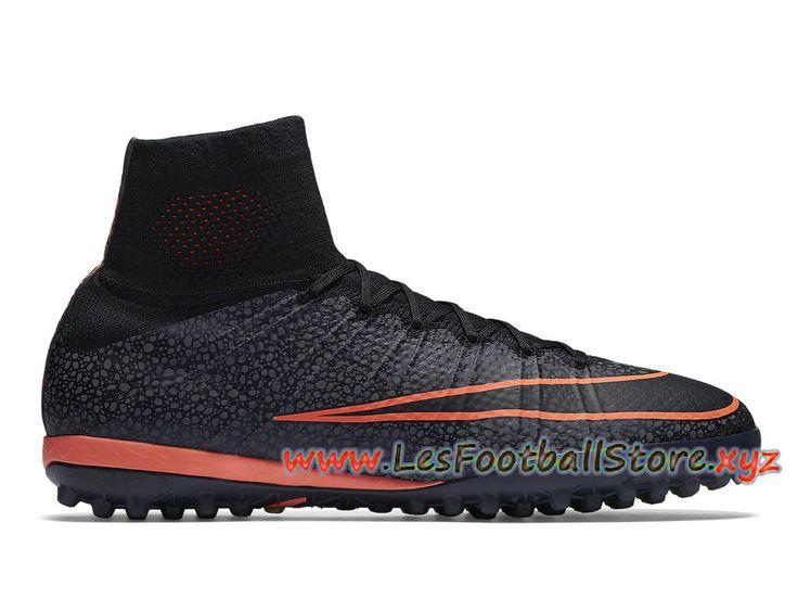 Nike MercurialX Proximo TF Chaussure de football pour gazon synthétique  pour Homme 718775_008 Noir Orange-