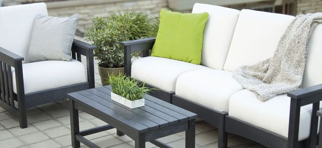 Outdoor Deep Seating Chairs, Loveseat, Sofas & Sectionals | Luxury All Weather Mission Craftsman Patio Furniture