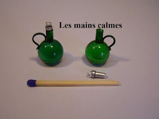 Calm hands: Port wine bottles