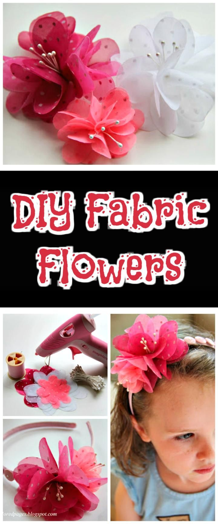 how to make fabric flowers tutorial