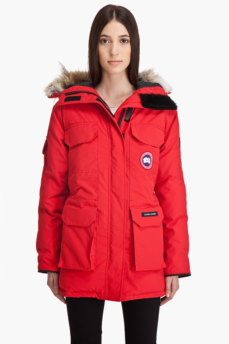 Canada Goose Womens Red Parka