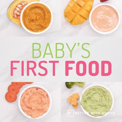 9 Healthiest First Foods for Baby + Recipes [INFOGRAPHIC