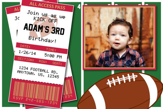 Football Birthday Party or Superbowl Invitations by HeathersCreations11  San Francisco 49ers  Any team available!