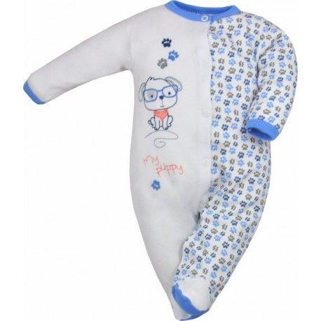 """Dziś witamy was """"Pajacem"""":)  Rozpinany z przodu w wersji Niebieskiej Pajac dla Niemowlaka Beti - Pies.  Wykonany w Polsce przez Kola Baby Fashion, jednoczęściowy 100% bawełny.  Występuje w rozmiarach 68 - 74.  Sprawdźcie inne, dostępne na stronie """"pajace""""  http://www.niczchin.pl/pajacyki-niemowlece/3414-bawelniany-pajac-dla-niemowlaka-beti-pies.html  #pajacdlaniemowlaka #ubrankadlaniemowlat #niczchin #kraków"""