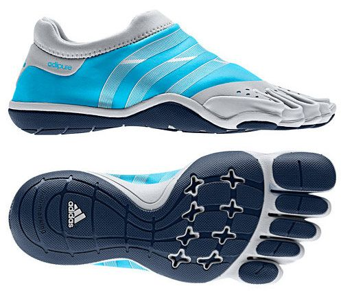 Adidas' Adipure shoes ($90) are among the sleekest we've found, fitting to your foot like a padded sock. The shoes aren't designed for running—they're supposed to increase stability and dexterity for strength training—but we've found that they also help with balance and strength on the treadmill. Best of all, they're washable—after a month at the gym simply toss them in the washing machine and they'll smell just like new.