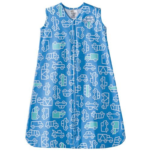 HALO Innovations Cotton SleepSack Wearable Blanket - 12 to 18 Months - Blue/White