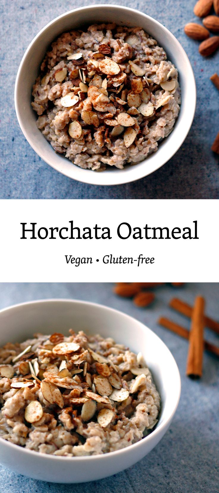 Nutty Horchata Oatmeal: reminiscent of warm summer afternoons with all the nutty, cinnamon goodness in a warm and cozy bowl. Gluten-free and soy-free.