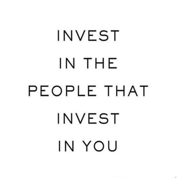 So true. Find good people to put in your life that treat you just as good as you will treat them