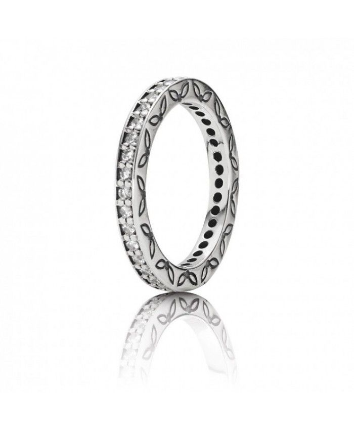 Cheap -  Pandora Silver Cubic Zirconia Ring Definitely your favorite style.