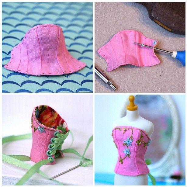 Let's Make a Blythe Corset (part 3)   Flickr - Photo Sharing!