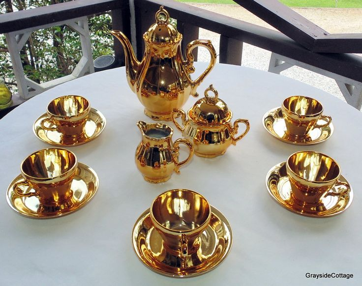 9 best GOLD PLATED TEA SERVICE images on Pinterest | Tea ...