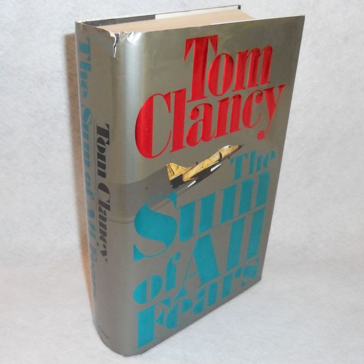 The Sum of All Fears by Tom Clancy Novel Jack Ryan Hardcover Book #TomClancy