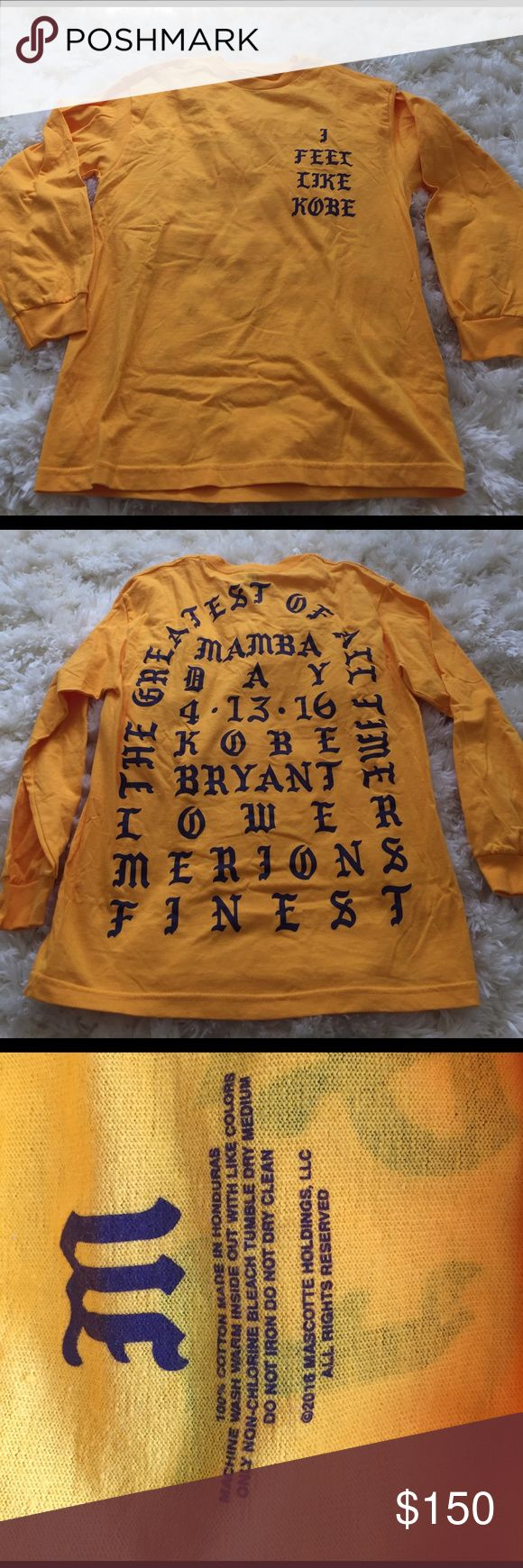 """I Feel Like Kobe Shirt Kanye West Never worn size medium """"I feel like Kobe"""" AUTHENTIC REAL FROM KANYE WEST SITE. Yeezy Sweaters"""