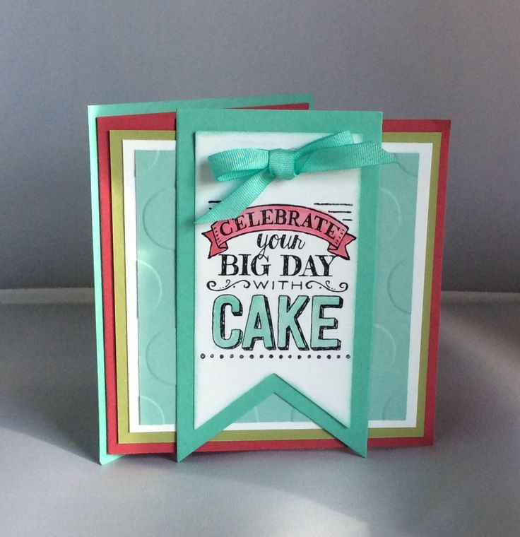 Birthday card using Big Day stamp set from the Sale-a-bration catalogue