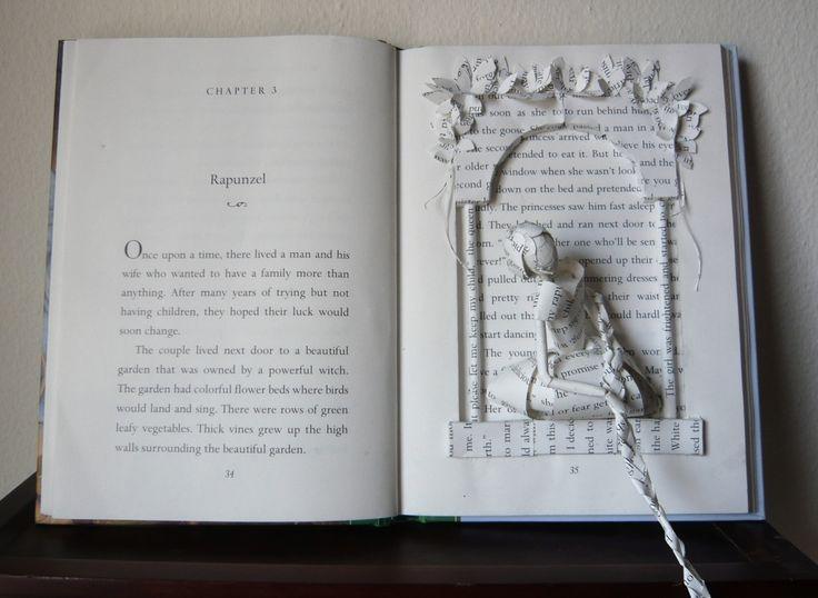 Rapunzel: Fairytale Paper Art, Rapunzel Rapunzel, Books Sculpture, Books Art, Samantha Press, Altered Books, Grimm Fairies Tales, 3 Dimensions Books, Rapunzel Books