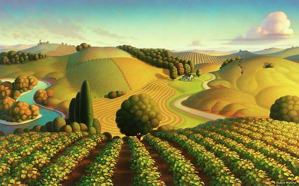 """Midwest Vineyard""  Grant Wood                                                                                                                                                      Plus"