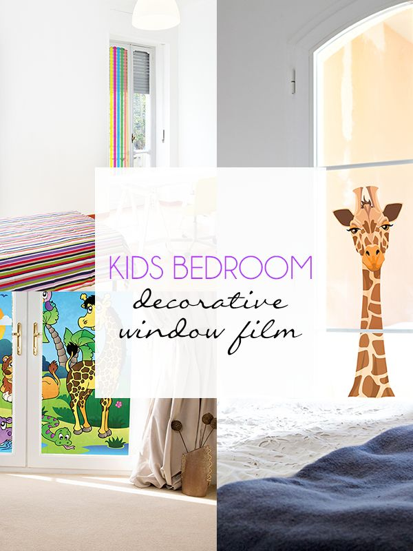 Kids Bedroom Decorative Window Film