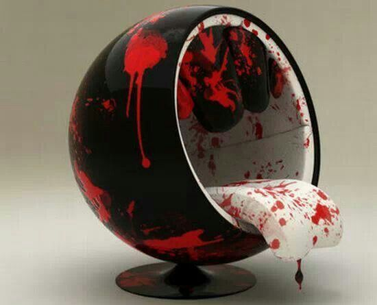 Bloody Egg Shaped Chair