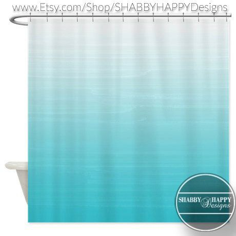 Design Art rideau de douche / blanc à Robins par SHABBYHAPPYDesigns