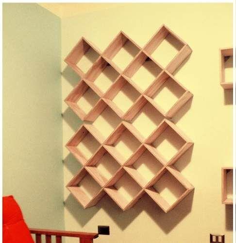 Librero repisa flotante estilo minimalista de bajo costo for Libreros minimalistas para oficina