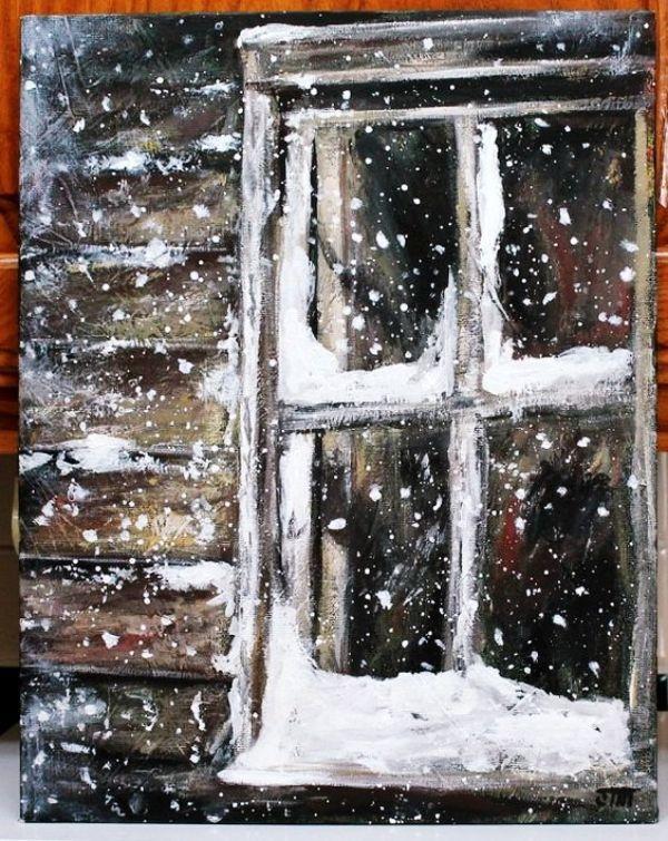 картинки с окном и метелью