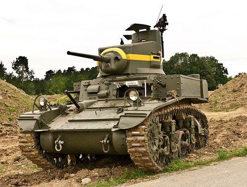 M3 Stuart Light Tank. WW2.