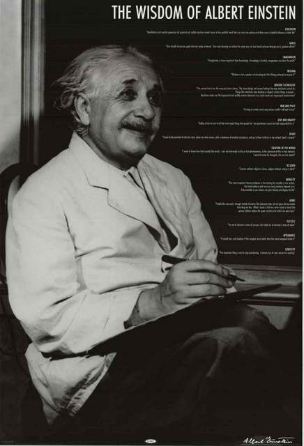 Albert Einstein was a wise ol' guy! A great poster of quotes on various topics! Perfect for classrooms and brainiacs. Fully licensed. Ships fast. 24x36 inches. Be a genius and check out the rest of ou