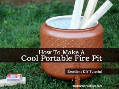how to make a small portable fire pit