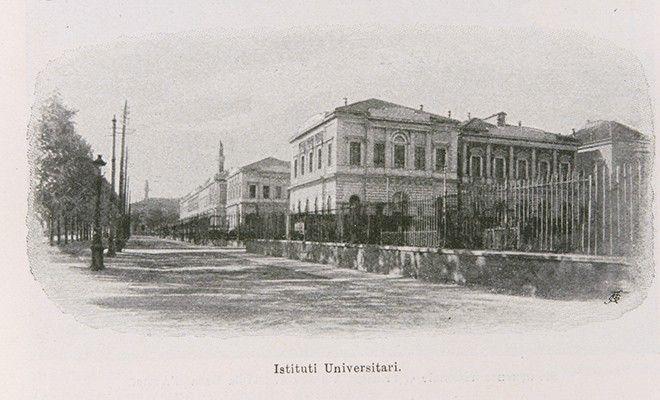 """Istituti universitari della """"Città della Scienza"""", post 1898 (visti da corso Massimo d'Azeglio)"""