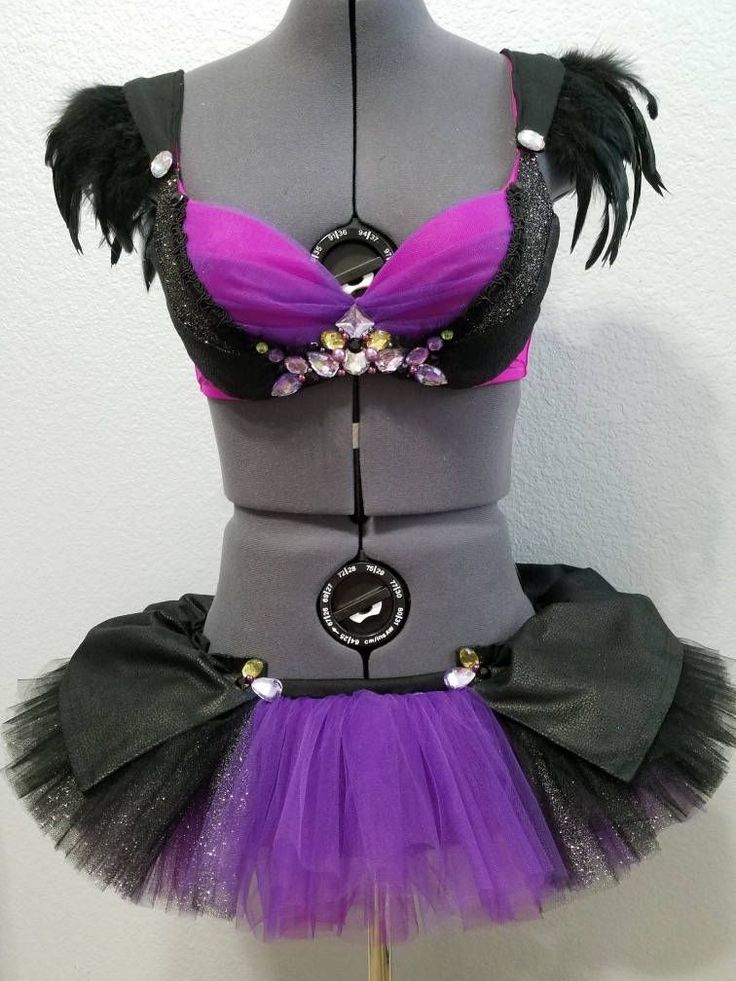 Dark Maleficent Rave Outfit, Maleficent Rave Bra, Disney Rave Bra, Disney Cosplay, Rave Clothing, Maleficent Lingerie, Sexy Disney Costume by AnnestheticDesigns on Etsy #raveoutfits