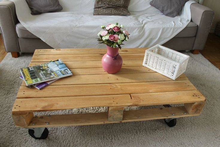 DIY Table basse palette + roulettes