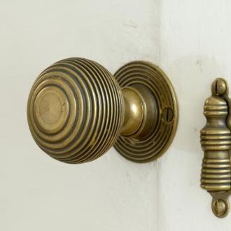 Brass Reeded Door Handles | Door Furniture | Jim Lawrence