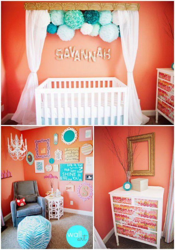 Nice Baby Girl Nursery Room Decor