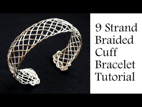 "Jewelry Tutorial : 9 Strand ""Viking"" Weave Braided Bracelet - Intermediate Wire Wrapping - YouTube"