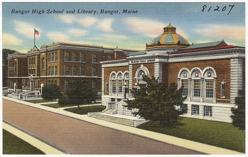 Bangor High School and Library, Bangor, Maine by Boston Public Library, via Flickr