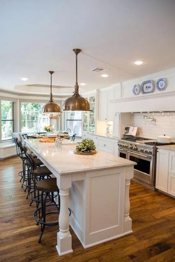 15 best kitchens by joanna gaines nikki s plate kitchen island decor narrow kitchen island on kitchen layout ideas with island joanna gaines id=37424