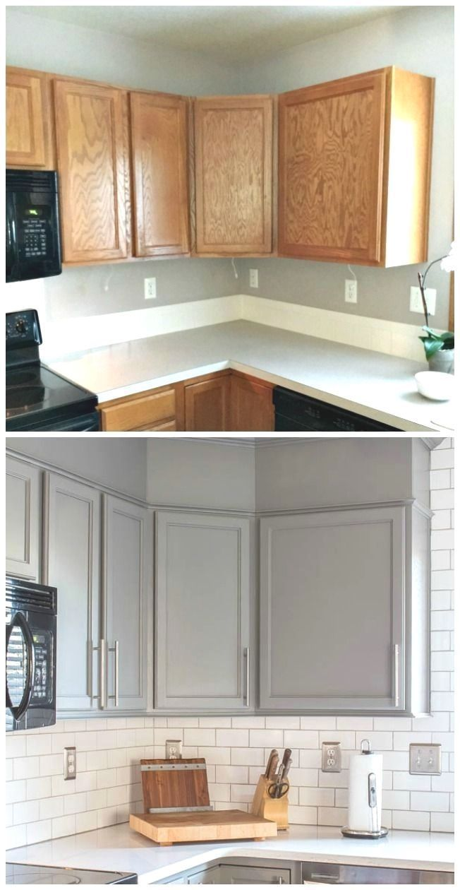 Get The Look Of New Kitchen Cabinets The Easy Way Small Kitchen Renovations New Kitchen Cabinets Updated Kitchen