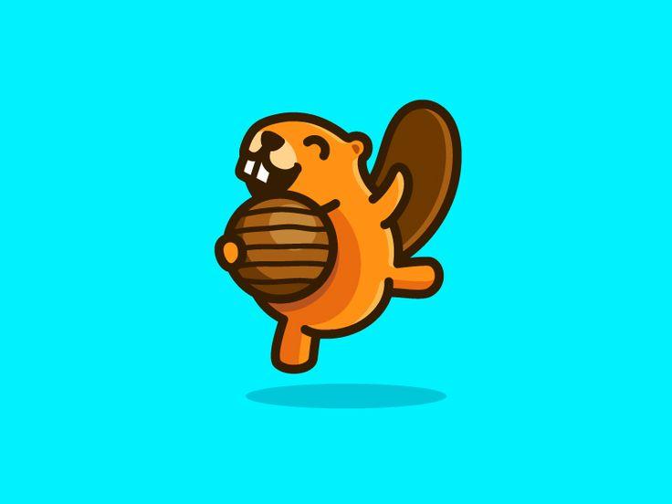 Beaver - Jumping by Alfrey Davilla   vaneltia #Design Popular #Dribbble #shots