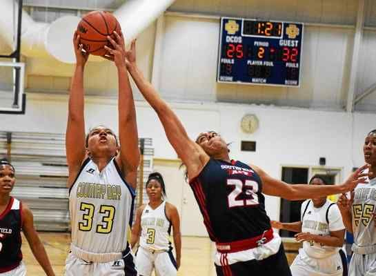 Birmingham Detroit Country Day's Destiny Pitts (33) is the Oakland County Player of the Year for 2016-17, while Southfield A&T's Deja Church (23), last year's POY, is again on the All-Oakland County team.
