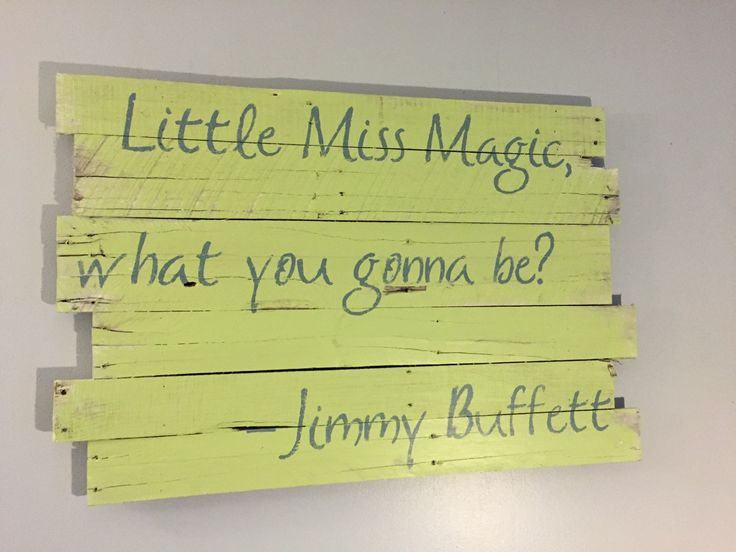 "Little Miss Magic - Jimmy Buffett 36"" x 24"" by WoodburyCreek on Etsy"