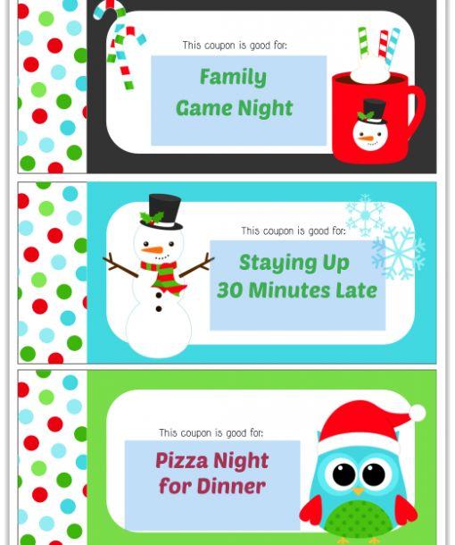 Editable Christmas Coupon Book 2