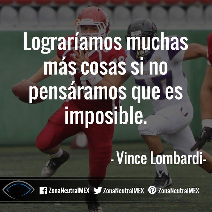 #FutbolAmericano #Futbol #Americano #VinceLombardi #Lombardi #Ganar #Cita #Frase