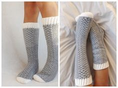 Oooo how cozy do these crocheted socks look? The Parker Cable Crochet Socks - designed By lakesideloops - free pattern HERE.