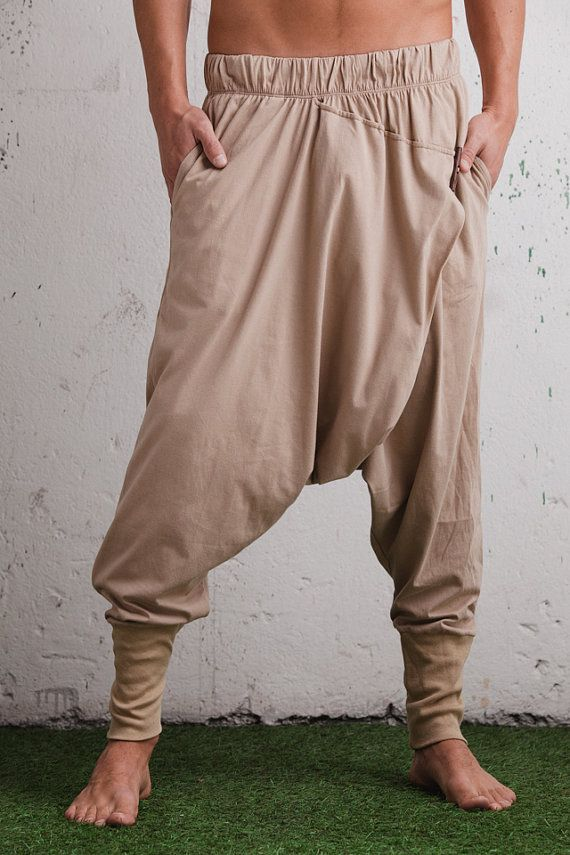 Harem pants women men in marsala red