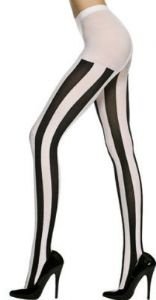 Black and white vertical striped tights!  Just wish my legs were skinny enough to pull them off.