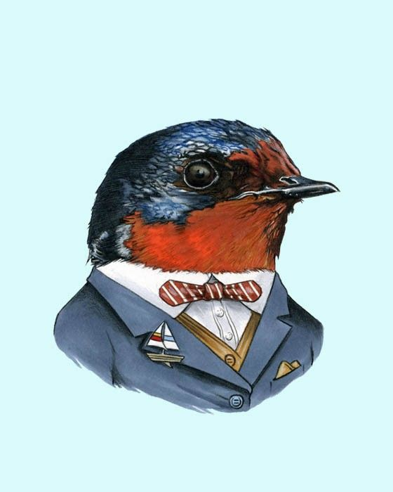Swallow art print by Ryan Berkley 5x7